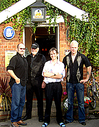 Charlie Morris with the UK band at The Hope Tavern, Holton-le-Moor, Lincolnshire