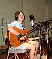 Charlie Morris at the WMNF studio