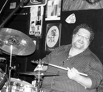 Marty Hodge with the Charlie Morris Band at Manhattans, Knoxville TN, 2009